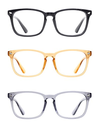 TIJN Unisex Stylish Non-Prescription Eyeglasses Glasses Clear Lens Square Eyewear