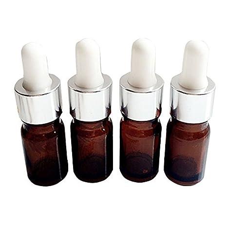 6 botellas cuentagotas de cristal portátiles de 5 ml/10 ml con pipetas