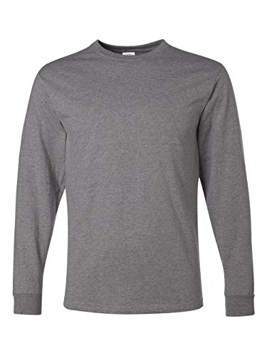 eight Blend 50/50 Long Sleeve T-Shirt (Oxford, Large) ()
