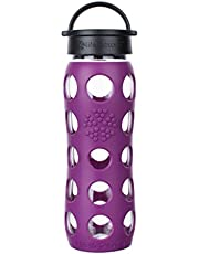 Save on Lifefactory 22-Ounce BPA-Free Glass Water Bottle with Classic Cap and Silicone Sleeve, Sea Green and more