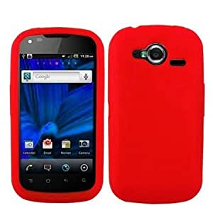 Viesrod 5-in-1 Bundle For Pantech Burst P9070 9070 Silicone Gel Skin Phone Protector Cover Case Red + Clear LCD Screen...