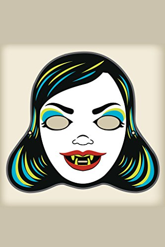 Vampire Mistress Vintage Mask Decoration or Halloween Costume Cutout Poster 12x18 inch -