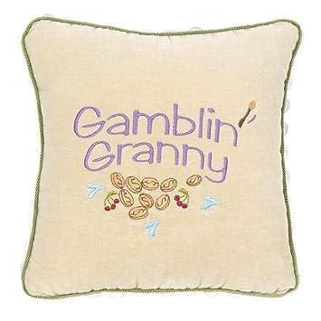 Amazon.com: Leylas Pillows Gamblin Granny - Almohada de ...