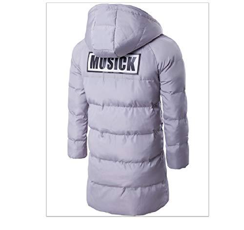 Hood Solid Cotton Grey Length Mens Coat Jacket Pea Thickening RkBaoye Mid xqwYEHXEv