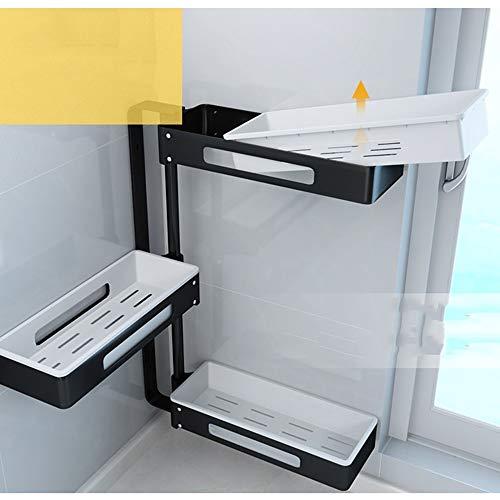 GLJ Baldas flotantes LJJL Estante De Cocina Esquinero De Esquina Estante De Almacenamiento De Condimento Multifuncional Giratorio Punch Free (Color : 2 Floors): Amazon.es: Hogar