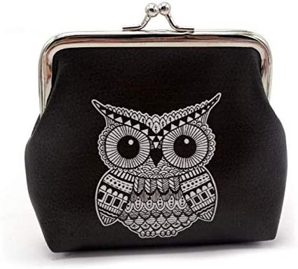 Unique Art Of Geometry Vintage Pouch Girl Kiss-lock Change Purse Wallets Buckle Leather Coin Purses Key Woman Printed