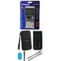 Casio FX-9860 Graphing Calculator With Travel Case And Essential Graphing Accessory Bundle, Black