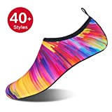 Womens and Mens Water Shoes Barefoot Quick-Dry Aqua Socks for Beach Swim Surf Yoga Exercise (Sunset, L)