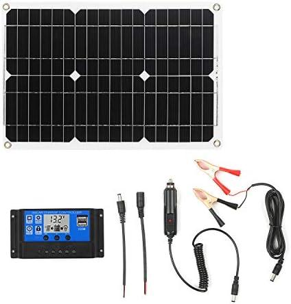 Gecheer 18W 12V Solarpanel Kit Monokristallines Off Grid Modul mit SAE Verbindungskabel Kits für Solarladeregler