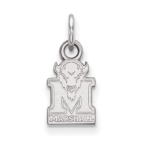 Roy Rose Jewelry 10K White Gold LogoArt Marshall University X-small Pendant/Charm