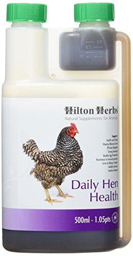 Hilton Herbs Daily Hen Health Herbal Health Supplement for Poultry & Birds, 1.05 pt ( 500ml) Bottle