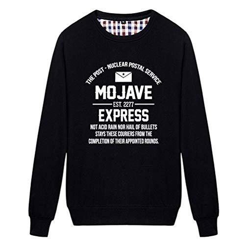 Unisex Mojave Express The Post Postal Service Novelty Graphic Sweatshirt (Black -