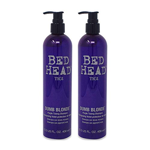 (TIGI Bed Head Dumb Blonde Purple Toning Shampoo, 13.5 Ounce (2 Pack))