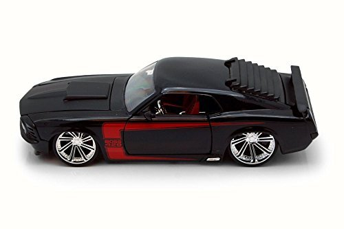 Jada 1970 Ford Mustang Boss 429, Black 90348 - 1/24 Scale Diecast Model Toy Car ()