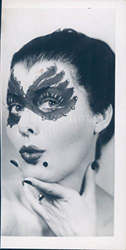 Vintage Photos 1950 Photo Jane Grant Halloween Mask NYC Journalist Co Founded NY Portrait