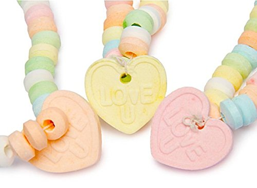 Love Beads Candy Necklace w/Charm 0.85 oz (Pack of -