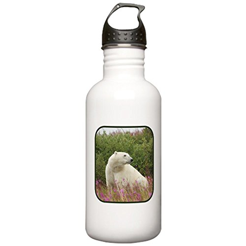 [Stainless Water Bottle 1.0L Polar Bear on Canadian Tundra] (North Pole Ice Cream)