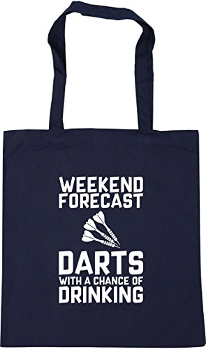 a Beach Darts litres x38cm 10 Bag Tote 42cm Chance Shopping Drinking of Forecast Weekend Navy HippoWarehouse with Gym French waqIPwE
