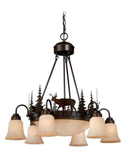Vaxcel CH55406BBZ Bryce 9 Light Chandelier, Burnished Bronze Finish by Vaxcel