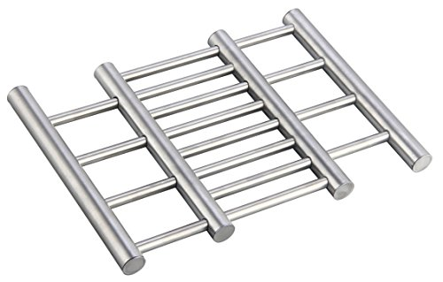 Home Basics Expandable Stainless Steel Trivet, Silver by Home Basics