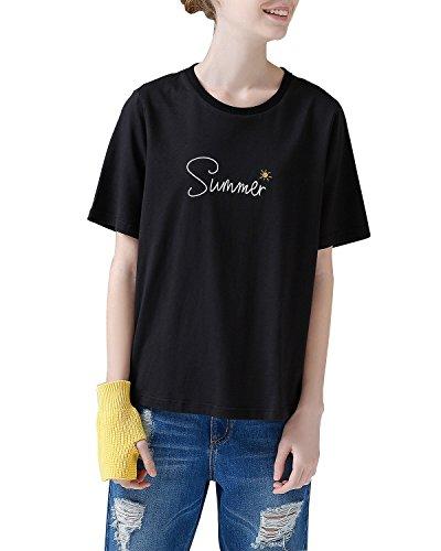オーク覚えている献身(トゥーユース) TOYOUTH プリント 半袖 Tシャツ 刺繍 カジュアル カットソー レディース