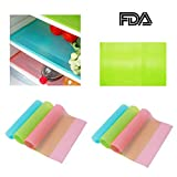 Zinnor 8 Pack Refrigerator Pads,Refrigerator Mats,Can Be Cut Refrigerator Pad Antibacterial Antifouling Mildew Moisture Absorption Pad Mat Table