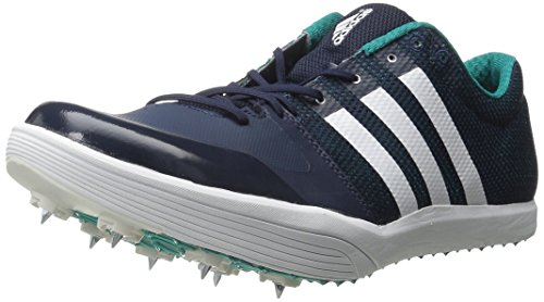 adidas Performance  Adizero LJ Running Shoe with Spikes,Collegiate Navy/White/Green,12 M US by adidas