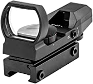 MARCOOL Tactical 4 Reticle Red Dot Open Reflex Sight with Weaver-Picatinny Rail Mount for 22mm
