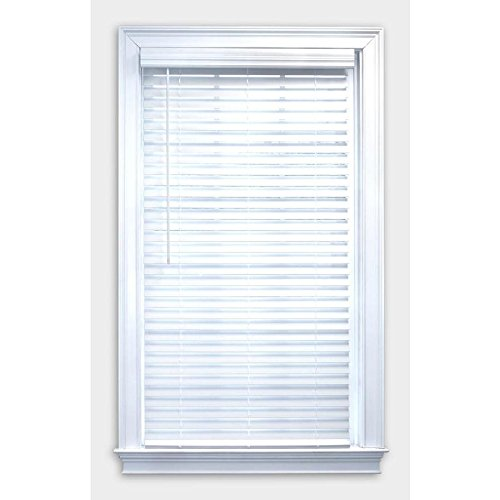 Lotus & Windoware 2'' Cordless Faux Wood Blinds 59 x 48 White