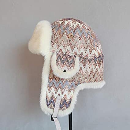 9daaf986d895a Image Unavailable. Image not available for. Color  Mini Mexx Bomber Hat  Women Faux Fur Lining Earflap Outdoor Doom Hat Windproof Thick Warm Winter