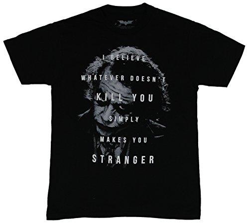 Batman (DC Comics) Mens T-Shirt - Joker Whatever Doesn't Kill Makes You Stranger
