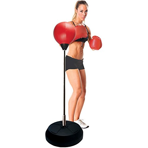 Protocol All-in-One Boxing Set | Punching Ball with Adjustable Height Stand That Withstands Tough Beatings| Includes Jump Rope, Comfortable Boxing Gloves, and Inflation Pump | Great Value by Protocol (Image #2)