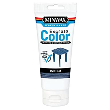 Minwax 30807 Water Based Express Color Wiping Stain and Finish, Indigo