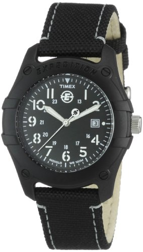 Timex Unisex T49692 Expedition Trail Series Analog Black Nylon Strap (Timex Camper Band)