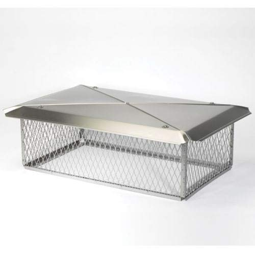 - Chimney 13230 17 x 29 Inch Model C Gelco Stainless Steel Multi-flue Chimney Top 8 Inch High 3/4 Inch Mesh