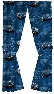 "Disney Pixar Cars 3 Curtains, Room Darkening Window Panels, 2 Panels 42"" W x 63"" L Each, with Tie Backs"