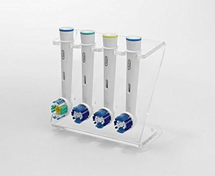 Soporte del cabezal de cepillo de dientes eléctrico, soporte para 4 cabezales de cepillo