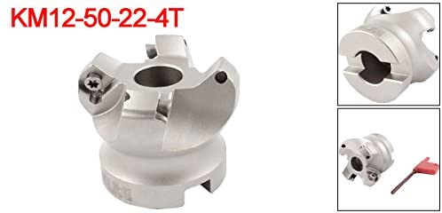 KM12 50-22-4T 50mm Cutting Dia 4 Flute Round Dowel Face Mill Milling Cutter Tool