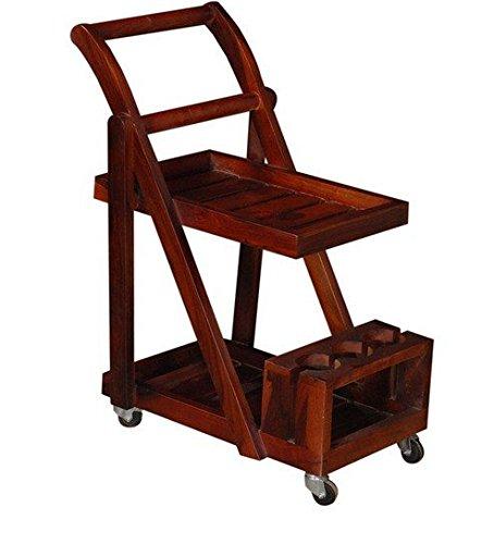 Ringabell Altavista Trolley Bar Cabinet (Honey Oak Finish)