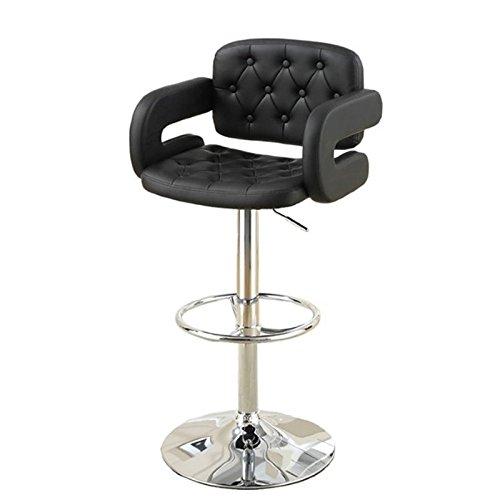 poundex-pu-tufted-back-and-seat-barstool-set-black