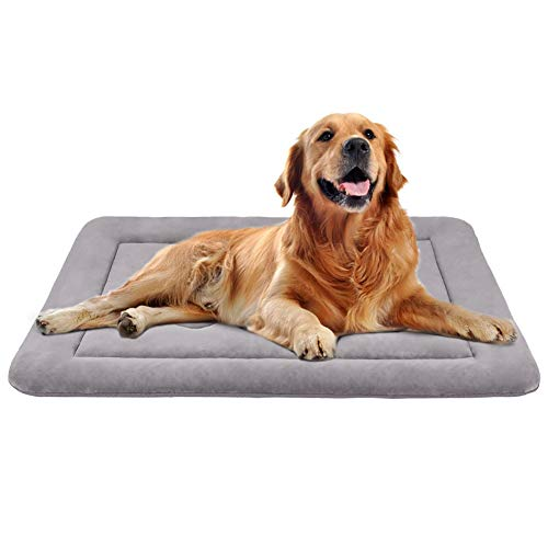 JoicyCo Large Dog Bed Crate Pad Mat 36″/42″/47″ Washable Non-Slip Bottom Pet Bed Cat Beds Mattress Kennel Pads