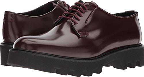 Emporio Armani Hombres Plain Toe Doble Suela Oxford Rojo / Morado