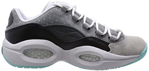 Reebok Question Low R13 hommes cuir Hi Top Baskets - schwarz/schwarz/carbon
