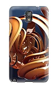New Style 5331745K68038568 Perfect Fit 3d Orange Shape Case For Galaxy - Note 3