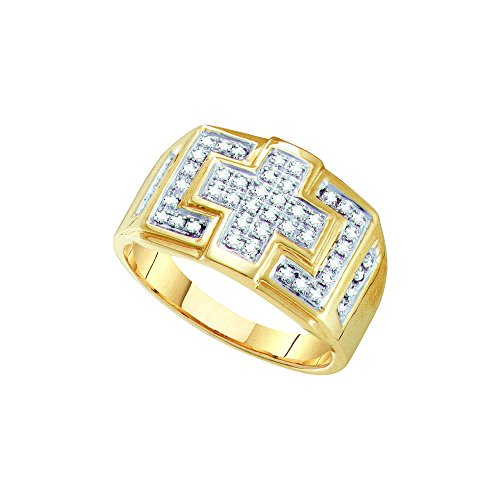 10kt Yellow Gold Mens Round Di