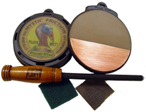 Callmasters by Woods Wise Triple Tone Gold 3-D Turkey Call (Turkey Call Silencer)