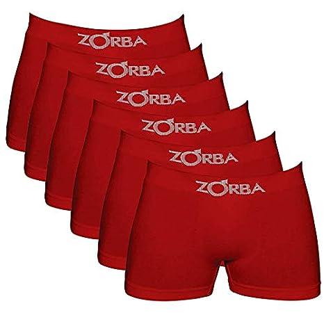 a3279dd73 Kit com 06 Cuecas Boxer Zorba Algodão Sem Costura 781  Amazon.com.br   Amazon Moda