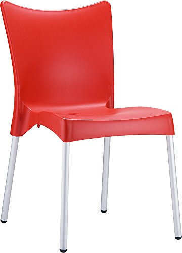 UPC 716982656509, Clear Chair Store 045R Juliette Indoor and Outdoor Stacking Chair (Set of 4), Red