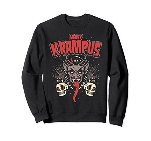 Unisex Merry Krampus Christmas Psychobilly Horror Sweatshirt (HR) Small Black for $<!--$39.99-->