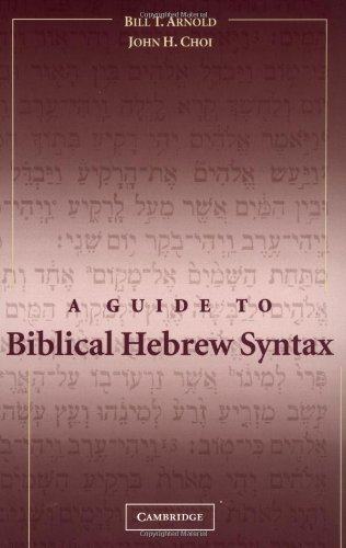 A Guide to Biblical Hebrew Syntax Bilingual edition by Bill T. Arnold, John H. Choi (2003) Paperback